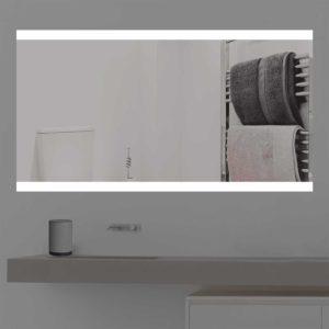 Badspiegel LED beleuchtet auf zwei Bereichen