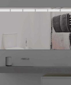 Badspiegel LED beleuchtet mit abgetrennten Streifen  K 216