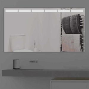 Badspiegel LED beleuchtet mit abgetrennten Streifen| K 216