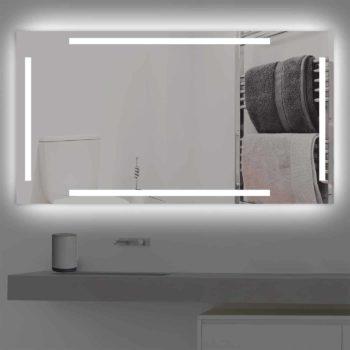 Badspiegel LED beleuchtet vier schmalen Streifen   K 221 kaltweiss