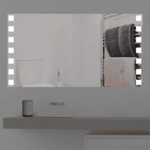 Badspiegel LED beleuchtet mit niedlichen Quadraten | K 358