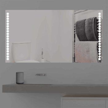 Badspiegel LED beleuchtet mit niedlichen runden