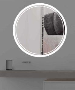 Badspiegel mit Beleuchtung | rund | R 404