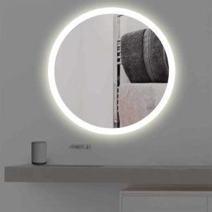Wandspiegel beleuchtet rund Led R 405 in warmweiss