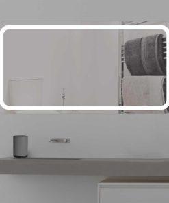 Badspiegel LED beleuchtet runde ecken K 350