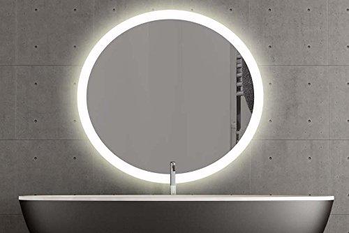 London Runder Spiegel Mit Led Beleuchtung 120cm Warmweiss